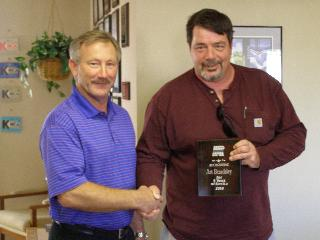 Art Beardsley awarded $500.00 for his leadership and contributions to the company.