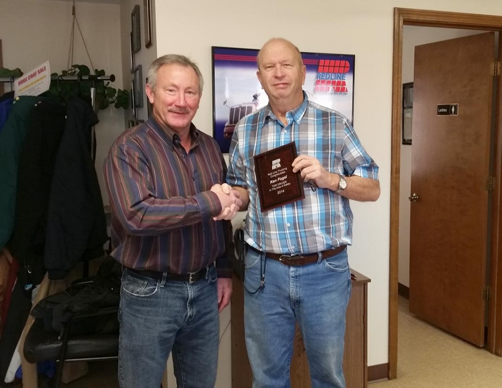Ken Fogel awarded $500.00 for his leadership and contributions to the company.