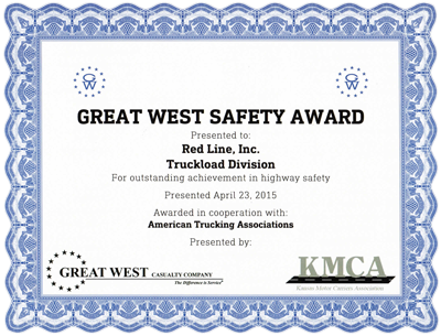 great-west-safety-award-kansas-motor-carriers