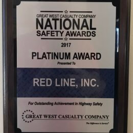 Red Line – 2017 Platinum Safety Award
