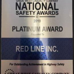 Red Line – Platinum Safety Award 2019